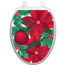 Holiday Poinsettia Toilet Seat Decal