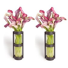 Glass Cylinder Vases (Set of 2)