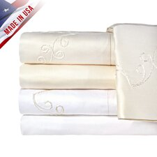 Supreme Sateen 1200 Thread Count Scroll Pillowcase (Set of 2)