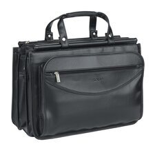 Leather Look Triple Compartment Portfolio