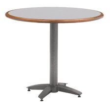 "Zeus 30"" Custom Round Wood Edge Laminate Top Table"