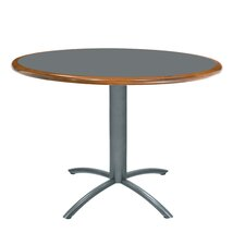 "Ellipse 36"" Custom Round Wood Edge Laminate Top Table"