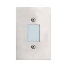In Wall Four Light Open Recessed in Satin Nickel