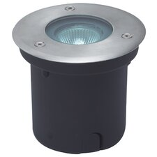 In-Ground One Light Round Stainless Steel Wall Light in Black