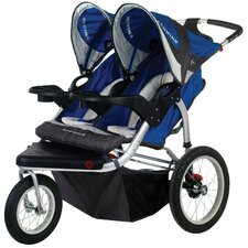 Turismo Swivel Wheel Double Jogging Stroller
