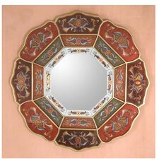 Colorful Octagon Flower Mirror