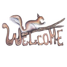 Alejandro de Esesarte Artisan Busy Squirrel Steel Welcome Sign