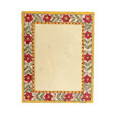 The Vidushini Artisan (5x7) Flowers Of India Madhubani Photo Frame