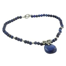The Neeru Goel Sterling Silver Lapis Lazuli Pendant Necklace
