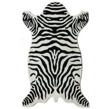 Safari Zebra White Rug