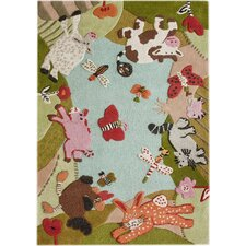 KinderLOOM Animal Land Multi Kids Rug
