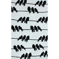 Cine Light Grey Birds On A Wire Novelty Rug