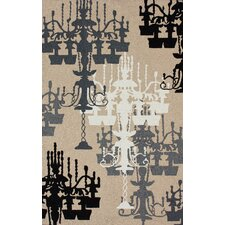 Pop Sandy Beige Chandelier Novelty Rug