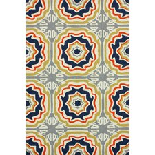 Homestead Multi Spanish Tiles Outdoor Trellis Rug