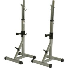 BD-8 Deluxe Squat Stands with Plate Storage