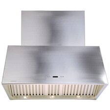 "Stainless Steel 36"" x 24"" Wall Mount Range Hood with1200 CFM"