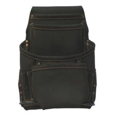 Ten Pocket Nail And Tool Pouch in Oiled Top Grain Leather