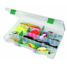 Bio Tuff Tainer Storage Box with Fifteen Green Dividers