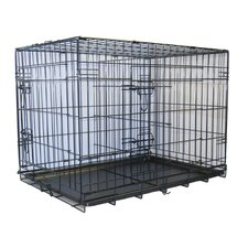 Folding Wire Dog Crate with Divider