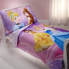 Princess Dress to Shine 4 Piece Toddler Bedding Set