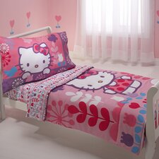 Hello Kitty Modern Garden 4 Piece Toddler Bedding Set