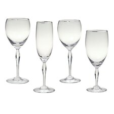 Allegra Platinum Iced Beverage Glass