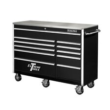 "56"" 11 Drawer Professional Roller Cabinet in Black"