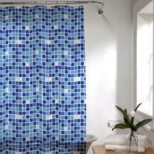 Tiles Vinyl Shower Curtain