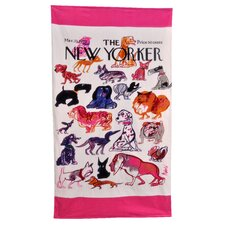 Conde Nast New Yorker Dogs Beach Towel