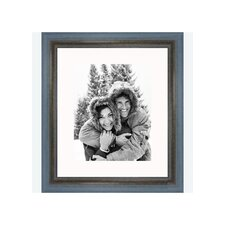 "8"" x 10"" Rustic Wire Brush Frame in Grey/Blue"