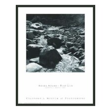 "Mountain Stream Framed Print by Ansel Adams - 32"" x 24"""