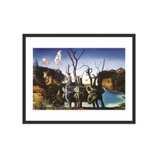 "Swans Reflecting Elephants by Dali Framed Print - 11"" x 14"""