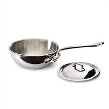 M'cook Cook'Style Curved Saute Pan with Lid