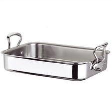 M'cook Cook'Style 7.3 qt. Roasting Pan with Stainless Steel Handle