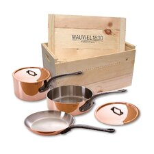 M'Heritage Stainless Steel 5-Piece Cookware Set with Crate