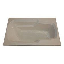 "60"" x 36"" Arm-Rest Whirlpool Tub"