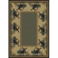 Hautman Northwood Moose Novelty Rug