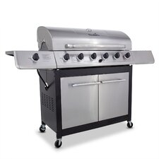 Classic Gas Grill with 6 Burners and Side Burner