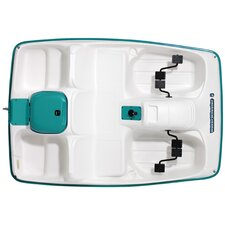 Water Wheeler Five Person Pedal Boat in Cream / Aqua
