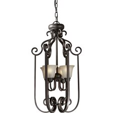 4 Light Foyer Pendant