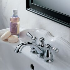 Leland Two Handle Mini-Widespread Kitchen Faucet with Less Handle