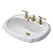 "Portrait Self Rimming Bathroom Sink with 8"" Centers"