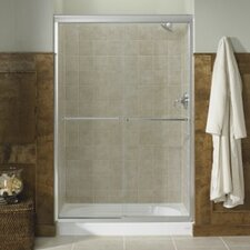 "Fluence Sliding Shower Door, 70-5/16"" H X 56-5/8 - 59-5/8"" W, with 1/4"" Thick Crystal Clear Glass"