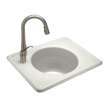 "Tandem 27"" x 12"" Single Hole Self-Rimming Utility Sink"