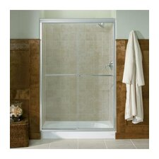 "Fluence Sliding Shower Door, 76-1/2"" H X 44 - 47-1/2"" W, with 1/4"" Thick Crystal Clear Glass"