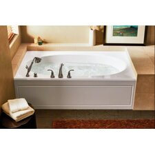 "Windward 72"" x 42"" Alcove Whirlpool Tub with Integral Apron and Left-Hand Drain"
