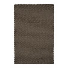 Lana Wool Trenzas Brown Rug
