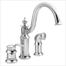 Waterhill Single Handle Widespread Bar Faucet with Side Spray