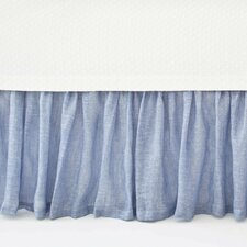 Savannah Linen Chambray Bed Skirt