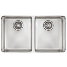 "Kubus 30.31"" x 17.31"" Double Bowl Kitchen Sink"